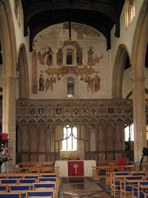 Rood screen at St Mary's, Attleborough, Norfolk