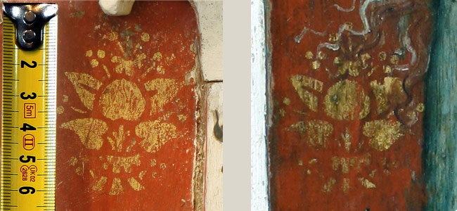 The use of the same stencil can be observed at Thornham and Filby, both in Norfolk, but some 65 miles distant